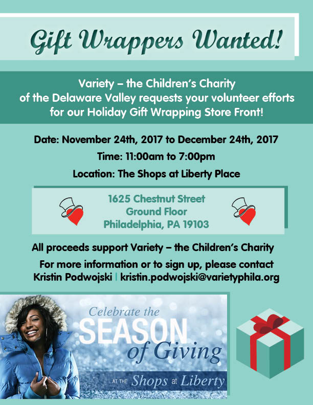 Variety Gift Wrapping Volunteer Flyer