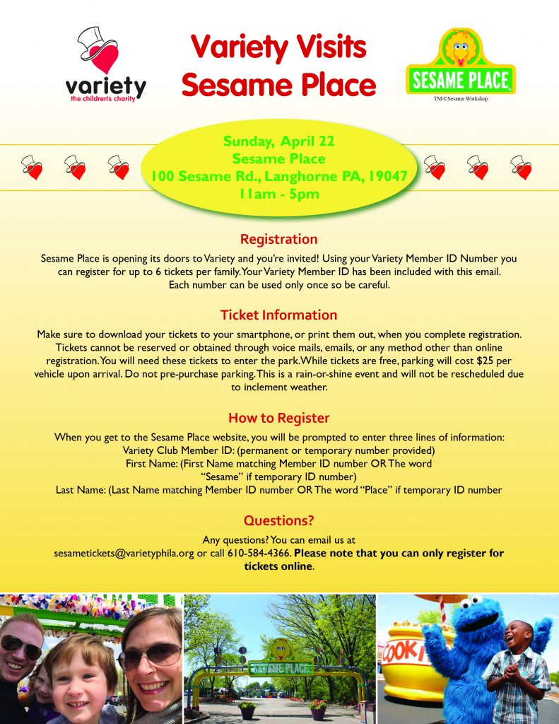 Variety Sesame Place event for children with disabilities